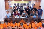 Press Release Hasil Operasi Sikat Lipu Polres Wajo