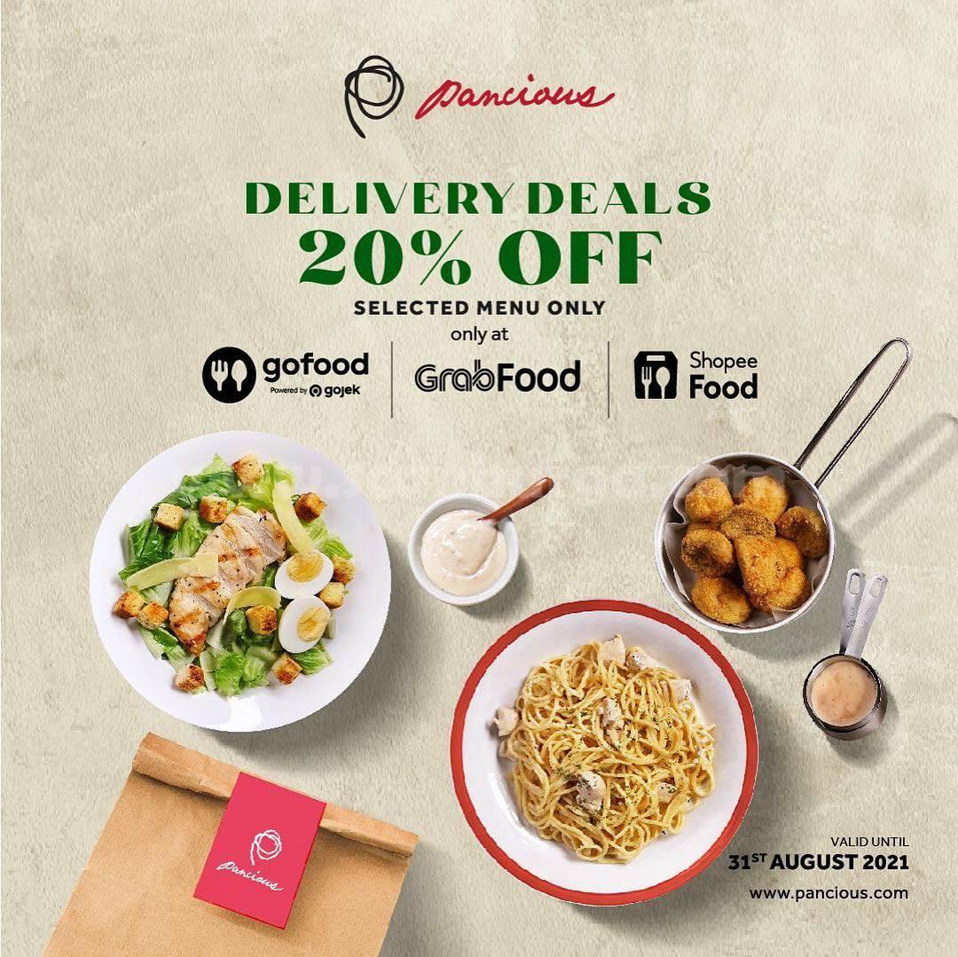 PANCIOUS Promo DELIVERY DEALS - Diskon 20% untuk menu pilihan