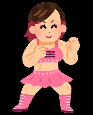 女子プロレスラーのイラスト