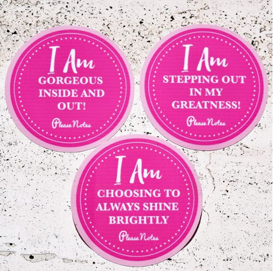 Label of Love Cheeky Collection Reusable Water Bottle Stickers PleaseNotes Cheryl Sutherland