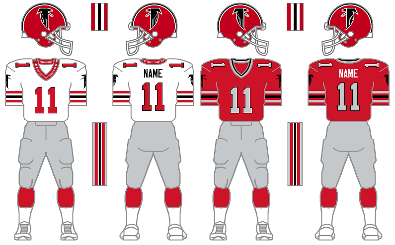 new product f4067 546d4 The Gridiron Uniform Database: The Atlanta Falcons Uniform ...