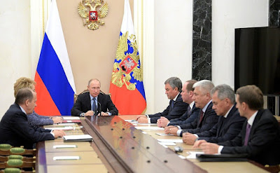 Vladimir Putin with permanent members of the Security Council
