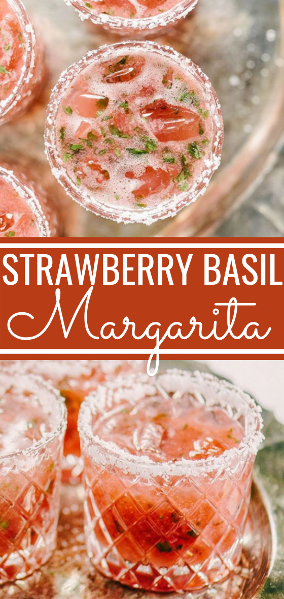 Strawberry Basil Margarita #drinks #alcohol #summer #refreshing #cocktails