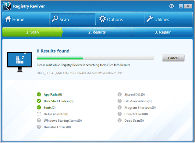 Screenshot Registry Reviver 4.22.0.26 Full Version