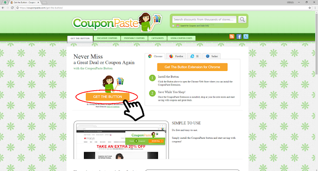 "couponpaste.com/get-the-button/ Click ""Get The Button"""