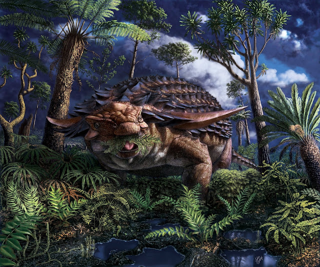 Canadian scientists discover what an armoured dinosaur ate for its last meal