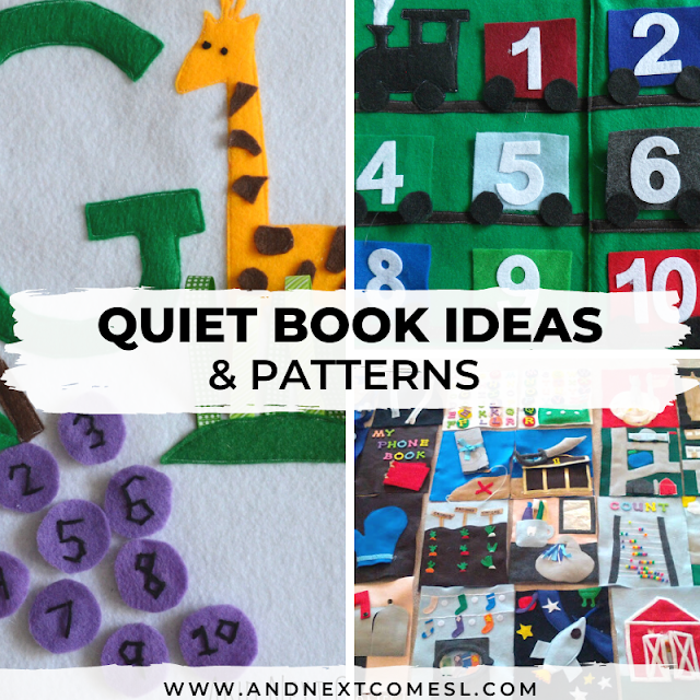Quiet book page ideas and patterns