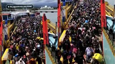 Beredar Video Ribuan Orang Padati Pelabuhan Kolaka-Bone, Pulang Awal Hindari Larangan Mudik