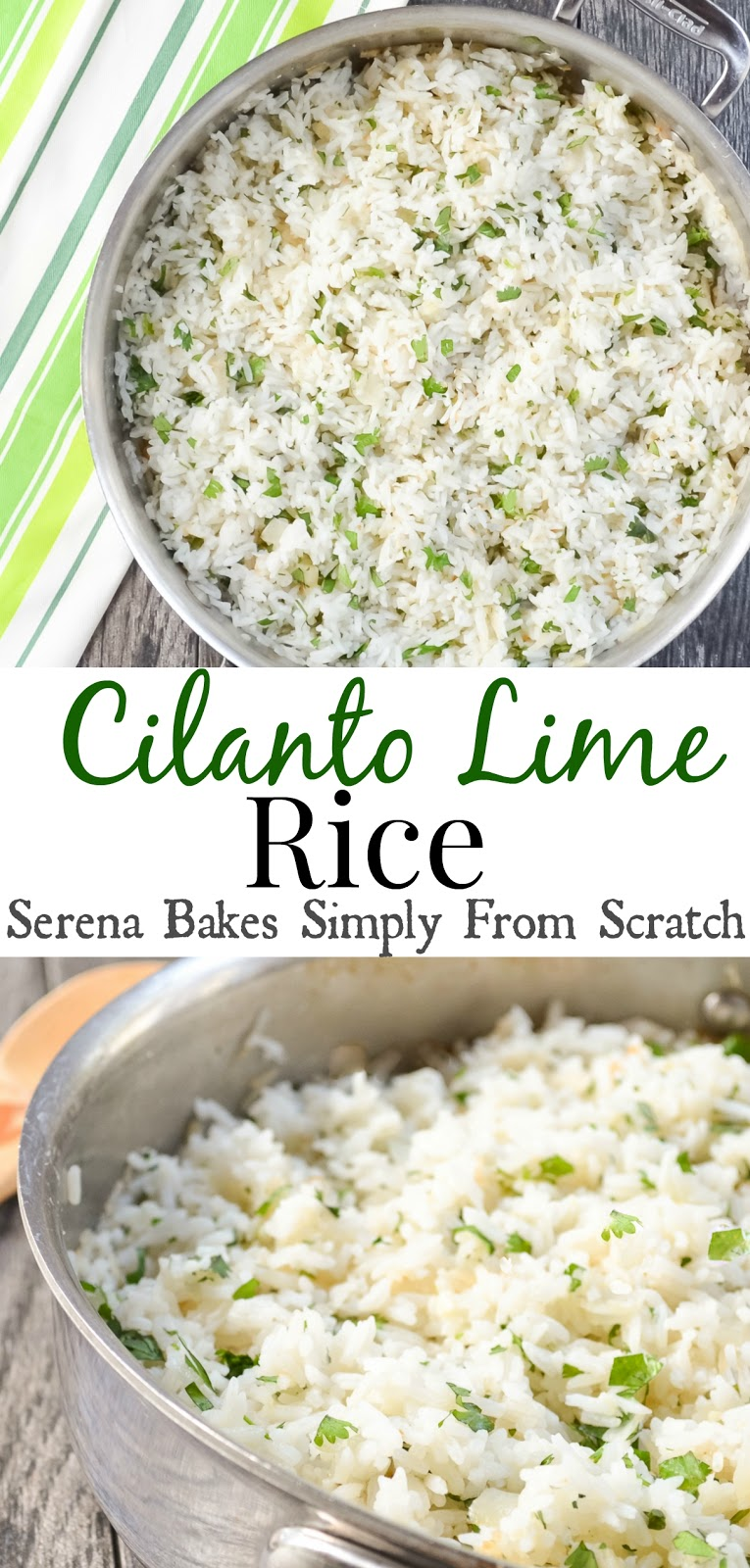 Easy to make Cilantro Lime Rice. serenabakessimplyfromscratch.com