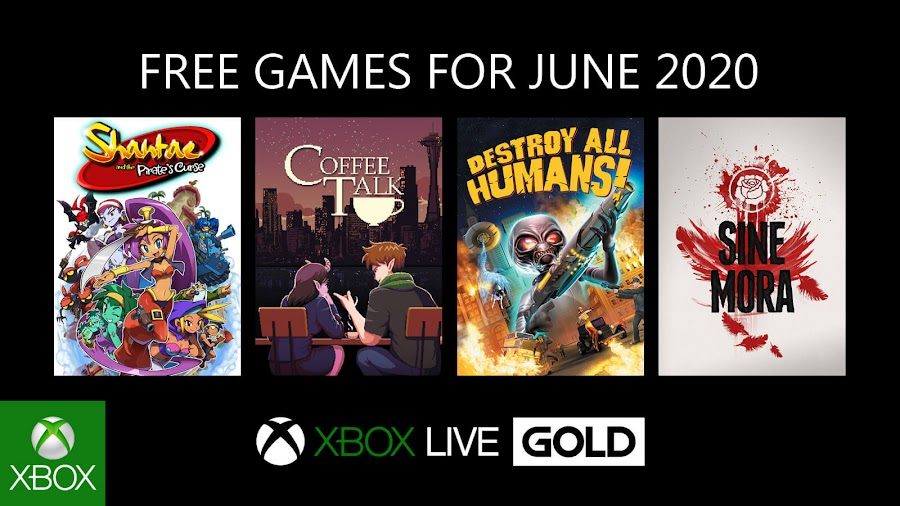 xbox live gold free games june 2020 shantae and the pirate's curse coffee talk destroy all humans sine mora xb1