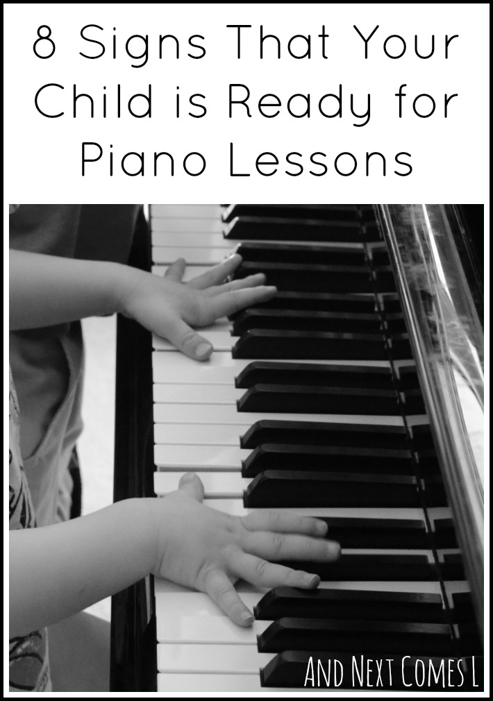 Piano lesson readiness signs