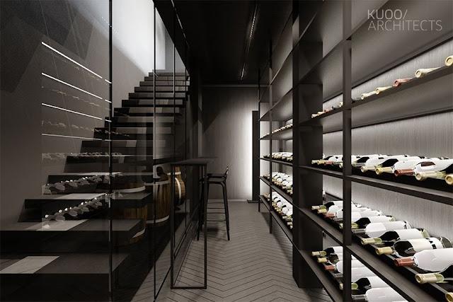 staircase shelf design