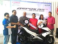 Yamaha Aerox 155 VVA Sudah Mengaspal Di Jawa Tengah