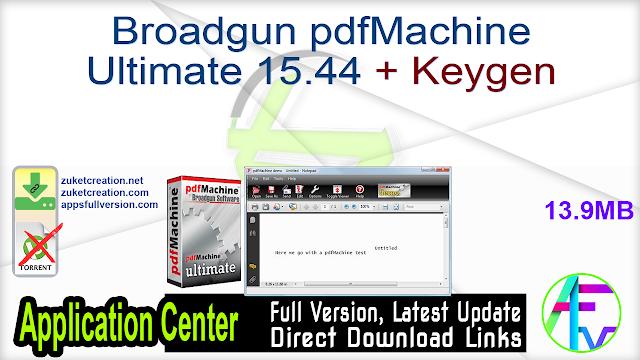 Broadgun pdfMachine Ultimate 15.44 + Keygen