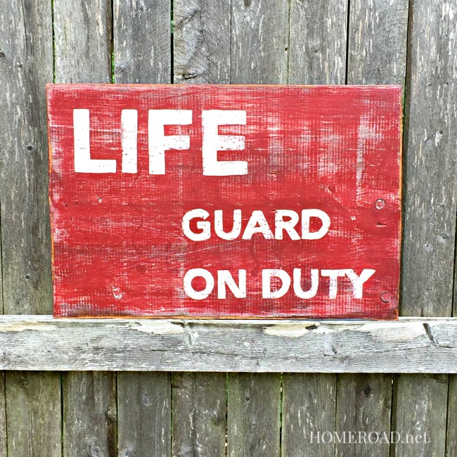 How to Paint a Lifeguard on Duty Sign
