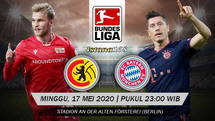 Prediksi Bola Akurat Istana168 Union Berlin vs Bayern Munchen 17 Mei 2020