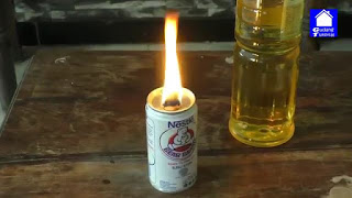 tutorial cara membuat lampu minyak goreng dan kaleng beka