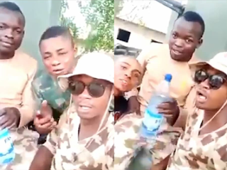 Breaking: Another video of Nigerian soldiers threatening Warri residents for attacking soldiers after a youth was killed in Warri