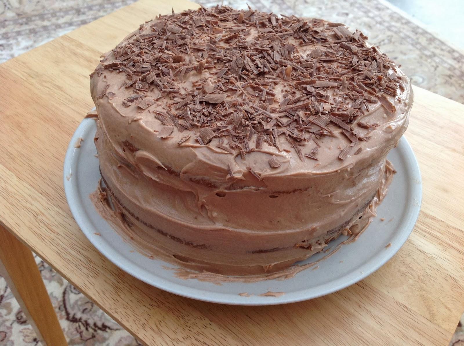 This Muslim Girl Bakes: Cinnamon Cake with Chocolate Orange Icing