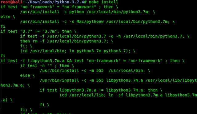 python3 kali linux make install