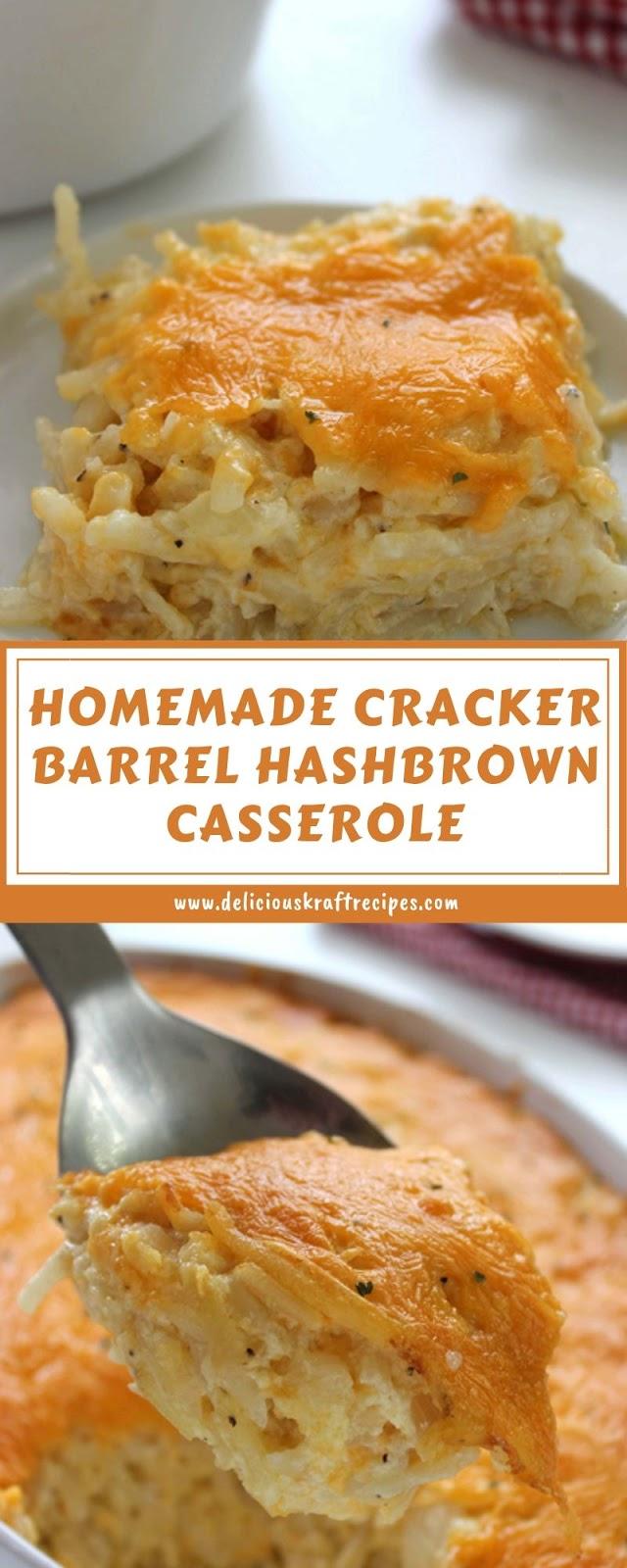HOMEMADE CRACKER BARREL HASHBROWN CASSEROLE