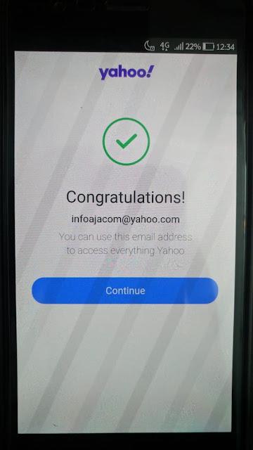 Cara Buat email Yahoo di Hp Android