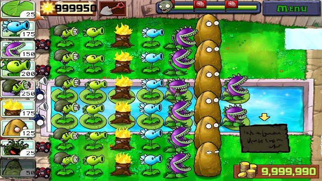 cheat plant vs zombie mod apk unlimited sun dan unlimited money
