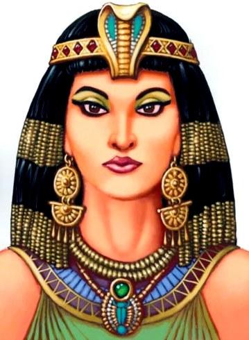 Dibujo de Cleopatra a colores