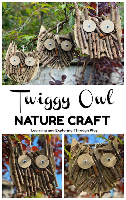 Twig Owl Craft - Forest School Nature Craft Ideas