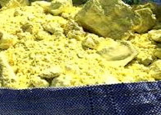 Sulfur fiber