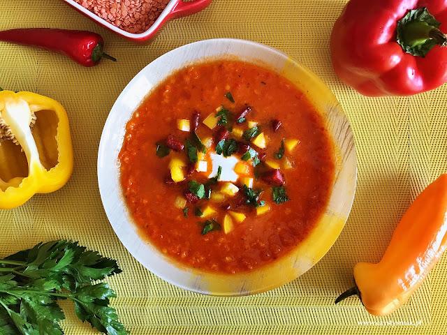 Mocno paprykowa zupa krem