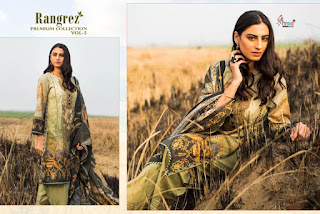 Shree Fab Rangrez Premium collection 5 pakistani suits