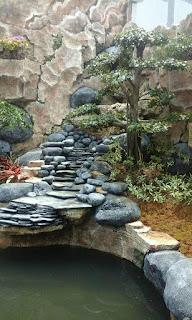 kolam tebing minimalis tukang taman surabaya