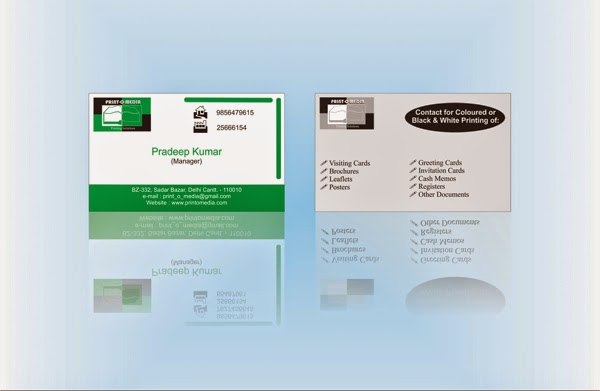 Print-o-Media Business Card
