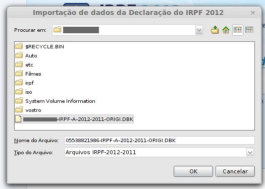 arquivo irpf 2012