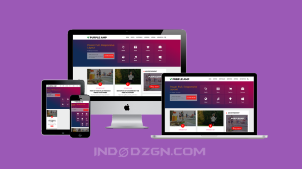 download template purple amp html, download tempate goomsite, amp premium blogger template