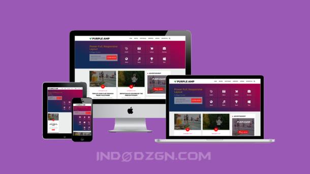 Purple Amp Html Blogger Template