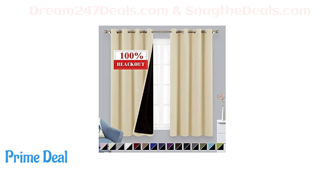 40% OFF Beige Blackout Curtains