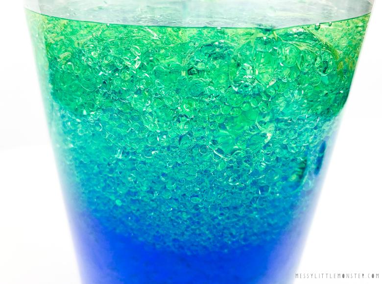 oil and water ocean in a bottle sensory bottle
