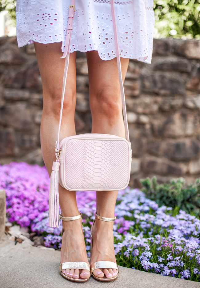 gigi new york madison petal pink crossbody bag