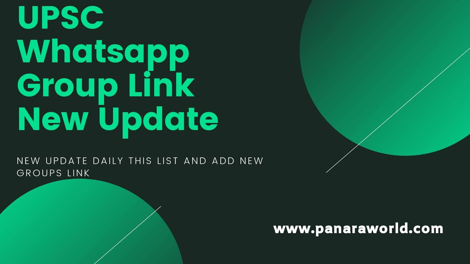 UPSC Whatsapp Group Link 2019 Today Update - Panaraworld - Indian