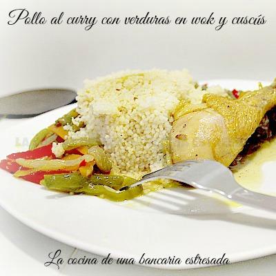 Receta de pollo al curry con verduras y cous cous