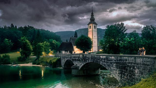 St John the Baptist Church at Lake Bohinj Slovenia