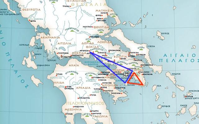 Τα ιερά τρίγωνα της ελληνικής αρχαιότητας και η καλά κρυμμένη σημασία τους
