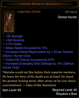 Diablo 3 | Legendary and Set Quivers Table