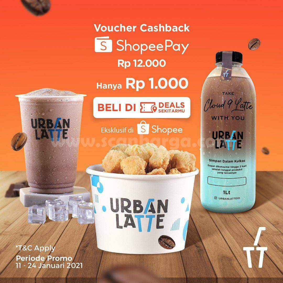 Promo URBAN LATE VOUCHER DEALS SHOPEEPAY CASHBACK 60% cuma Rp 1.000