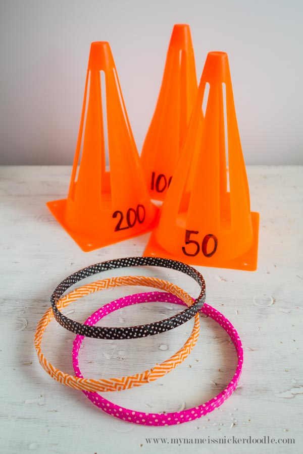 Good old fashioned Ring Toss!  Here is an easy tutorial for making your own game!  Perfect for some great family fun!  |  mynameissnickerdoodle.com