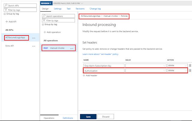 Configure Set Header Policy