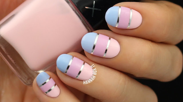 Pastel Color Nail Art Block