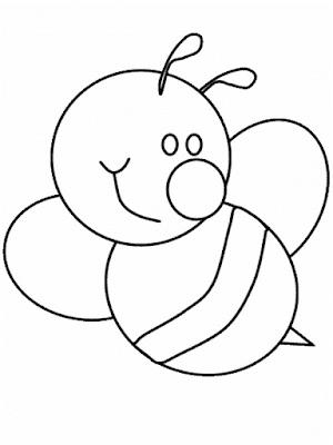 Gambar Mewarnai Lebah - 6